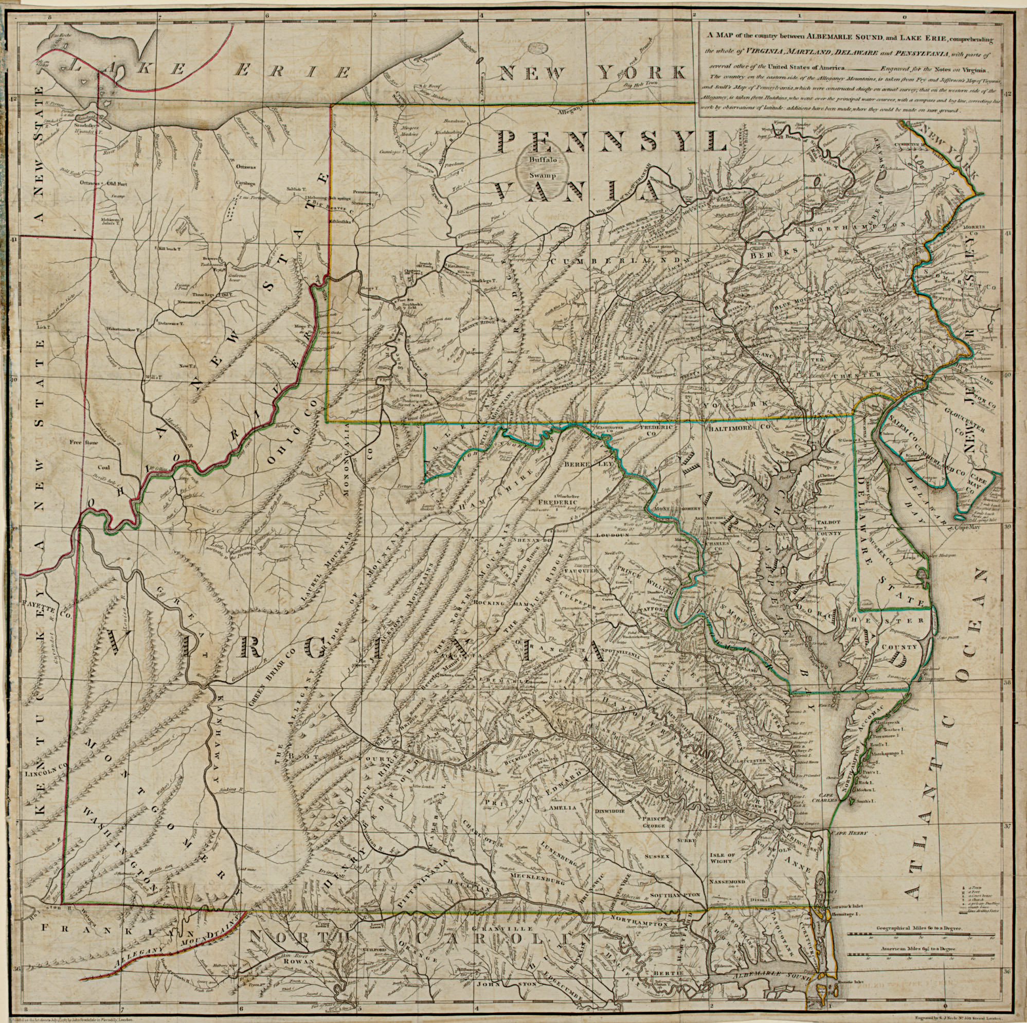 [VIRGINIA]. A Map of the Count